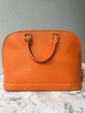 AUTHENTIC LOUIS VUTTON ALMA PM TOP HANDLE BAG IN MANDARIN EPI LEATHER RRP$2840