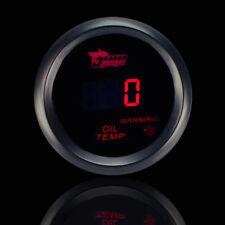 52mm Auto LED Öltemperatur Temperaturanzeiger Instrument Zusatz Instrumente Rot