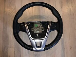 volvo s60 xc60 xc70 steering wheel r design sport BLACK LEATHER 11-17