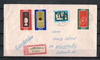 DDR, Reco Einschreiben MiNr. 1491 - 1493 Pausa nach Düsseldorf 1966