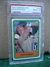 Jack Nicklaus, 1981 Donruss Golf #13, PSA NM-MT  8