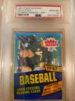 1987 FLEER Baseball Cello Pack Jose Canseco Wally Joyner Rookie on Top PSA  10