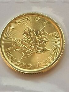 Moneda Oro Maple Leaf Canada 2020 1/10 Oz SC
