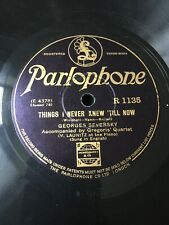 78 Rpm GEORGES SEVERSKY - Things I never knew 'till now PARLOPHONE R 1135