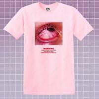 Warning Eye T-shirt TV Media Conspiracy Tumblr Tee Indie Hipster Illuminati Top