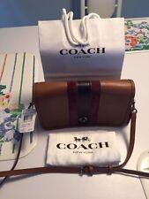 Coach DINKY PENNY75th Anniversary  BROWN OXFORD Crossbody Bag 57461 & DUST BAG