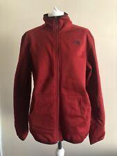THE NORTH FACE Men's Fleece Zip Through Softshell Jacket, Dark Red, Medium