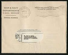 USA V-Mail Brief komplett mit kopiertem Text 14.05.1944, selten!! #l417