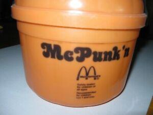 Collectible McDonalds C1986 McPunk'n Plastic Halloween Pumpkin