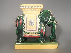 Fine RARE South Vietnam Polychrome Pottery Elephant Shape Ashtray ca. 1970's