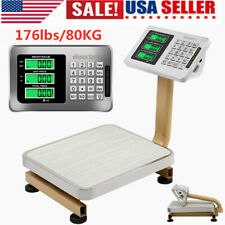 Leadzm Digital Lcd Platform Scale Weight Shipping Floor Postal Scale 176lbs80kg