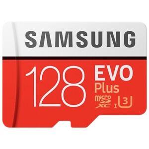 New Samsung 128GB micro SD SDXC U3 Class 10 memory card Evo Plus 100MB/S Genuine