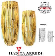 Lampada in Bambù Bamboo STONES Design Moderno Coppia Idea Regalo!!!