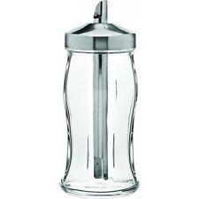 CLASSIC RETRO CAFE STYLE GLASS SUGAR DISPENSER LARGE POURER CAFE HOME RESTAURANT