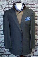 Hickey Freeman Men's Gray Birdseye Nailhead All Season Wool Suit 44L 44 Long