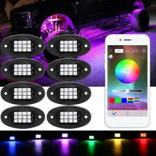 8Pcs Offroad Rock Lights Wireless Bluetooth Truck Jeep Universal RGB Multi-Color