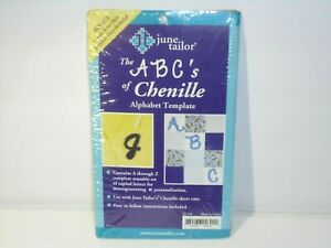 June Tailor Alphabet Chenille Template Monogram Quilting Sewing NEW