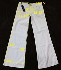 139$ NWT Miss Sixty DL0041 NEW TULUM W24 L36 jeans boot cut stretch cotton white
