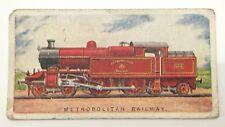 Metropolitan Railway Engines 106-4-4-4 Tank Imperial Tobacco 20 Train Card F024