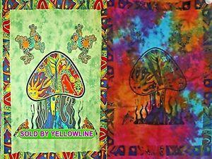 2 piece Mushroom Tapestry Bohomen Indian Wall Hanging Wholesale (77cmX102cm)GM-1
