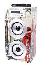 ALTAVOZ TORRE CAJA PORTATIL BLUETOOTH, USB, SD, RadioFM, MP3 con Mando Incluido