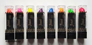 Janet UV Fluorescent Glow Neon Bright Lipstick Choose Shade