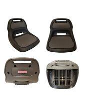 "Sturdy Plastic Craftsman Black Lawn Mower Seat 12"" Back AYP, Husqvarna, Sears"