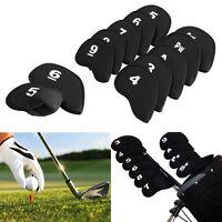 10Pcs/Set Neoprene Golf Head Cover Club Iron Putter Head Protector Headcovers