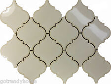 11.5SF Antique White Porcelain Moroccan Pattern Mosaic Tile Kitchen Backsplash