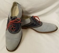 Cole Haan Mens Shoe Sz 8.5 Med Colton Air Croc Embossed Suede Lace Up C10560