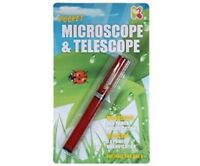 POCKET MICROSCOPE & TELESCOPE - FUN DISCOVERY SCIENCE INSECT PEN GADGET ACTIVITY