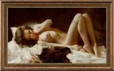 "Original Oil Painting female art nude girl on canvas 24""x40"""