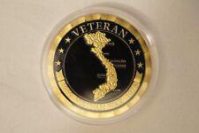 1959-1975 - Vietnam War - Veteran - Gold Plated Coin in Case.