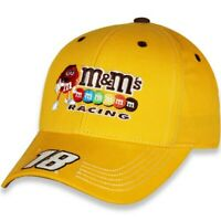 Men's Checkered Flag Gold Kyle Busch M&M's Adjustable Hat