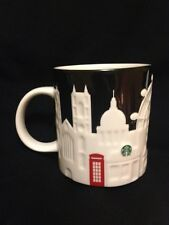 Starbucks London Relief Mug Black Big Ben Tower Bridge Thames St Pauls Cathedral