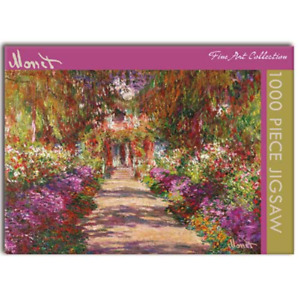 Jigsaw Puzzle, Monet - The Garden Path at Giverny 1000 piece, Gifted Stationery