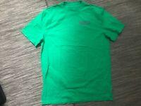 Under Armour Logo Tee T Shirt Men's Medium Loose Fit Short Sleeve Green