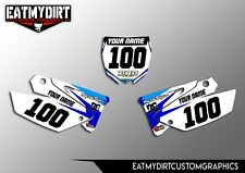 FOR YAMAHA YZ 125 250 UFO RESTYLE 02-14 BACKGROUNDS NUMBER BOARDS MX GRAPHICS