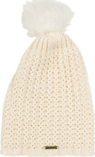 BILLABONG WOMENS HAT.COLD FOREST CREAM KNITTED BOBBLE POM POM BEANIE 7W BN07 491