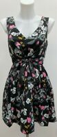 BNWT Rrp £59 New Monsoon Fusion Retro 50's 'Fit N Flare' Tie Waist Dress Size 14