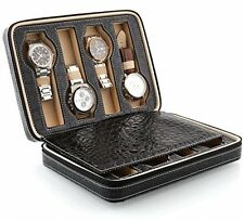 Amzdeal Luxury Watch Storage Display Box 8 Grids with delicate patterns gentle