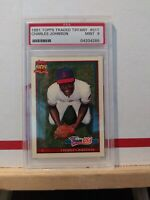 1991 Topps Traded Tiffany Charles Johnson USA PSA Graded 9 #61T MINT RC Card