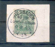 DR-Germania 55 mit SoStpl Wiesbaden gest. Luxusbriefstück (R9321