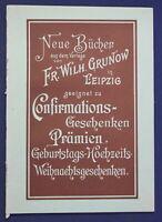 Original Katalog Neue Bücher geeignet zu Confirmations-Geschenken 1890 sf