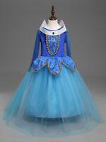 Girls Frozen Snow Queen Elsa Anna Costume Cosplay Party Gown Fancy Dress Costume