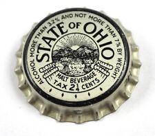Vintage State Of Ohio Malt Brew Soda Bière Capsules USA Bouteille Casquette