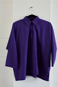 Shapes of London size OSFA purple cotton shirt