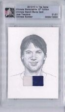 2012-13 ITG ULTIMATE SKETCH JERSEY PATCH RELIC SILVER JOSE THEODORE 1/1 HABS