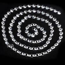 Super Bright 3.3ft 100cm K9 Clear Crystal Glass CHANDELIER Light Chain 14mm Bead