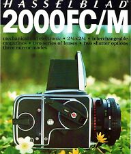 HASSELBLAD 2000FC/M CAMERA BROCHURE -HASSELBLAD 2000 FCM-from 1981